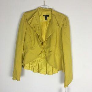 INC Size XL New with tags Yellow Ruffle Blazer